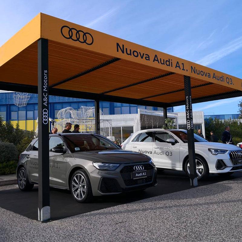 Gazebo espositivo Audi Napoli - Work in Progress